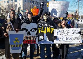 Flint residents demand action over the poisoning of their water