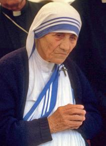 Mother Teresa at a pro-life gathering in 1986