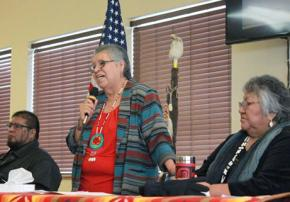 Members of the Paiute tribe respond to the militia occupation in eastern Oregon