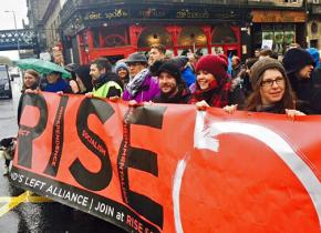 Members of the newly formed RISE on the march at a demonstration