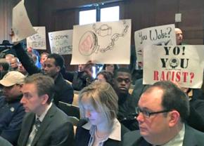 Anti-racist activists confront the University of Wisconsin system Board of Regents