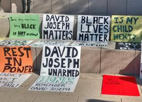 Austin residents demanding justice for David Joseph send a message outside City Hall