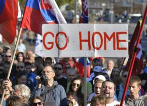 A right-wing mobilization against the refugees in Slovakia