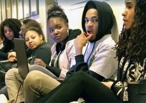 Brandeis University students during their sit-in at Ford Hall