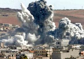 Bombs rain down on a Syrian city