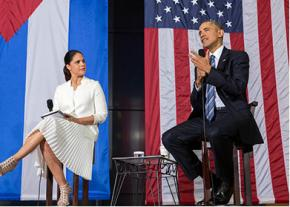 President Obama lectures about entrepreneurship on his visit to Cuba