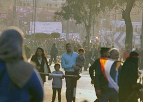 Protesters in Cairo defy the regime's ban on demonstrations