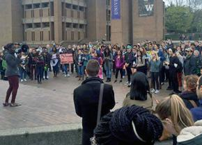 """The UW community protests the administration's false """"dialogues"""" on equity"""