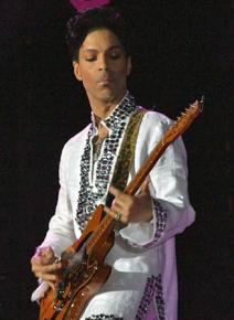 Prince performing in California