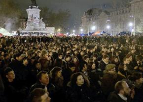A Nuit Debout protest fills the streets of Paris