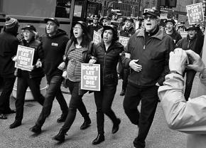 """Some 1,500 PSC members and their supporters came out to """"Stop starving CUNY"""" rallies"""