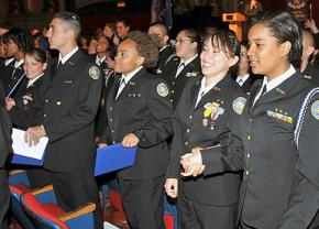 ROTC students in Chicago