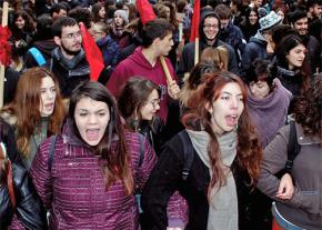 Sending a message against austerity in Athens