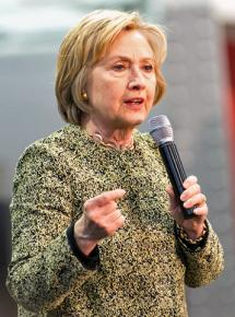 Hillary Clinton speaks at a campaign event