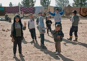 Refugee children from Syria at a camp in Turkey