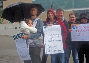 On the picket line at City College of San Francisco