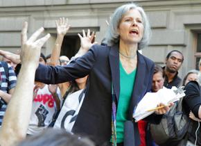 Dr. Jill Stein speaks at an Occupy Wall Street demonstration