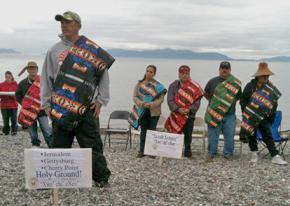 Lummi Nation protesters gather to defend Cherry Point