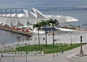 New construction along the Rio de Janeiro waterfront for the Games