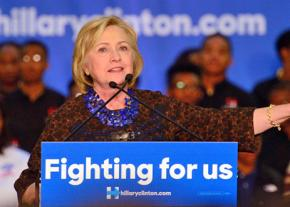 Hillary Clinton on the campaign trail