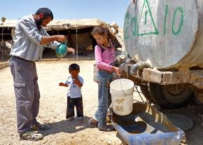 Villagers in a-Duqaiqah in the West Bank pay four times the average rate to get water from a water truck
