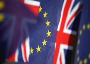 The European Union and United Kingdom flags