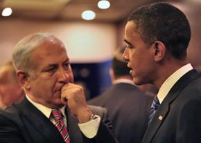 Benjamin Netanyahu meets with Barack Obama during the 2008 election campaign