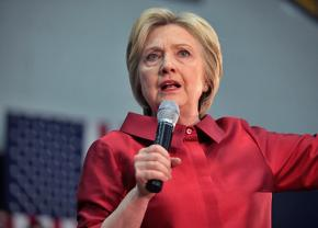 Hillary Clinton on the presidential campaign trail