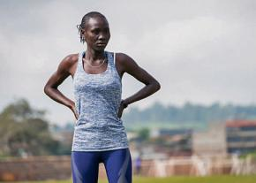 Anjelina Nadai Lohalith, a refugee from South Sudan, will compete in the 1,500 meter run