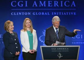 The Clinton family at a Clinton Global Initiative event