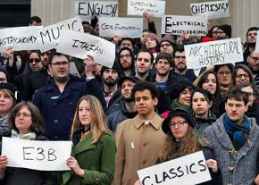 Members of the Graduate Workers of Columbia union at Columbia University