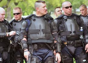 U.S. Capitol Police in body armor in Washington, D.C.