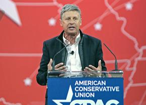 Libertarian Party presidential candidate Gary Johnson