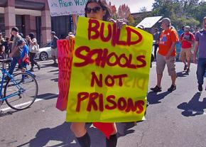 Supporters of the national prison strike take to the streets in Oakland, California