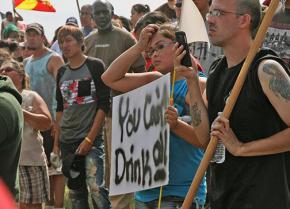 Standing against the Dakota Access Pipeline in North Dakota