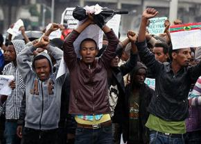 Aromo demonstrators take to the streets in Ethiopia