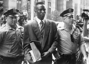 Yusef Salaam is led into court as a defendant in the Central Park 5 case