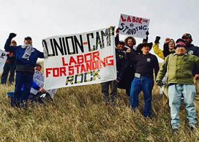 The Labor for Standing Rock delegation in North Dakota