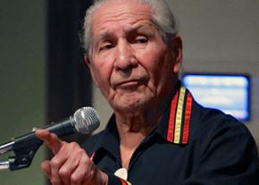 Chief Oren Lyons of the Onondaga Nation speaks in Rochester about the Standing Rock struggle