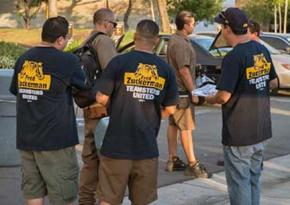Campaigning for Fred Zuckerman and the Teamsters United slate