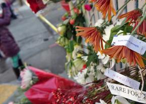 A shrine for the victims of the Ghost Ship fire in Oakland