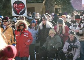 Anti-racists rally against Richard Spencer and his neo-Nazi followers in Whitefish, Montana
