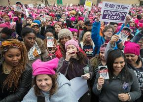 Women from all over the country converge on Washington to stand against sexism