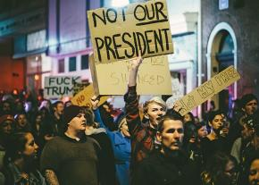 Taking to the streets to oppose the president-elect