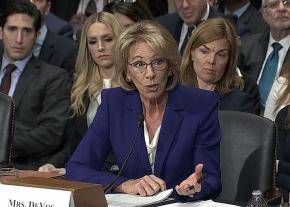 Betsy Devos, Trump's nominee for Education Secretary, fields questions during her Senate confirmation hearing