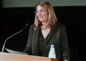 Author and activist Naomi Klein speaks to a packed house at the Lincoln Theatre in Washington D.C.