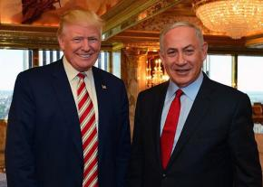 Israeli Prime Minister Benjamin Netanyahu (right) visits Donald Trump in Trump Tower