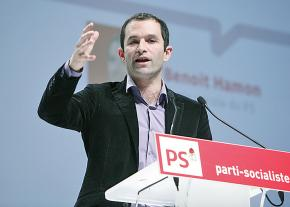 Benoit Hamon, candidate of the Socialist Party for the French presidency