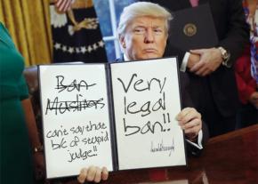 Donald Trump amends an executive order