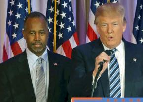 Ben Carson with Donald Trump
